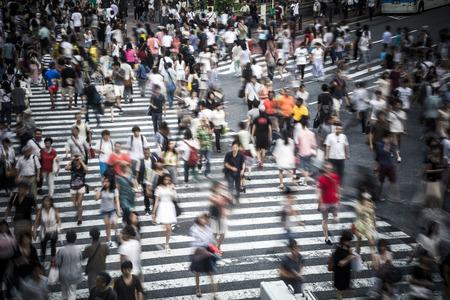 poblacion: Tokio multitud Foto de archivo