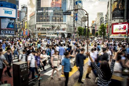 Shibuya Crossing Tokyo Redactioneel