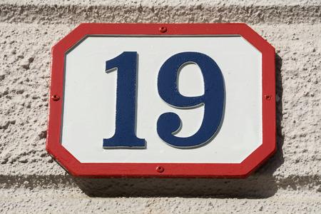 nineteen: Numero diciannove Archivio Fotografico