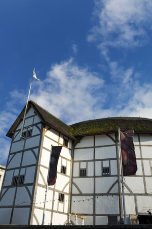elizabethan: Globe Theatre on summer day