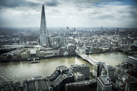ロンドンの街並み 写真素材