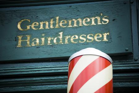 barbero: Caballeros peluquer�a Foto de archivo