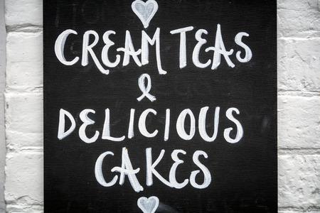 teas: Cream teas Stock Photo