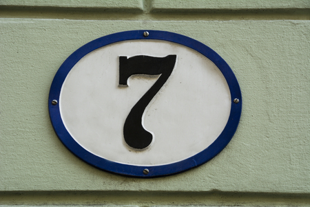 seven: Number seven Stock Photo