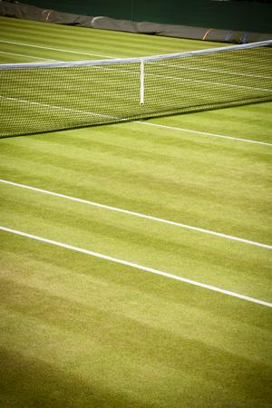 wimbledon: Tennis net and court Stock Photo