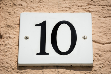 ten: Number ten Stock Photo