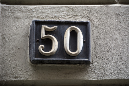 metal wall: Number fifty