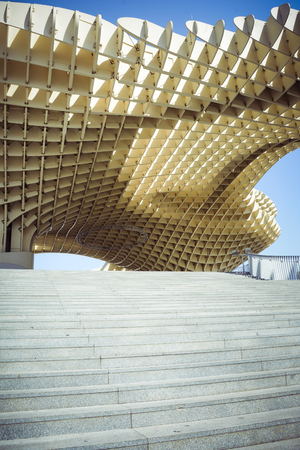 Metropol Parasol and steps in Seville Andalusia Editorial