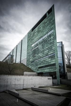 estonian: Kumu art museum in the Estonian capital Tallinn