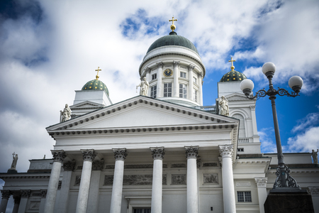 Helsinki cathedral overlooking Senate Square in the Finnish capital