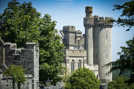 View of Arundel castle from Sussex street