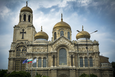 Dormition of the Mother of God Cathedral in Varna Bulgaria Stock Photo