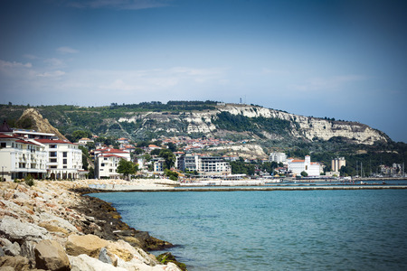 View of Balchik seafront in northern Bulgaria Editorial