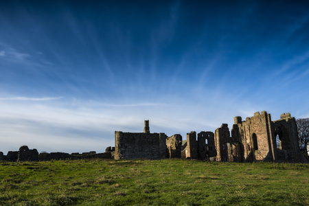 Lindisfarne priory on Holy Island in Northumberland Stock Photo