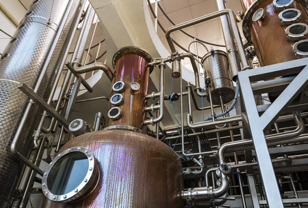 Interior of distillery for manufacture of vodka and gin