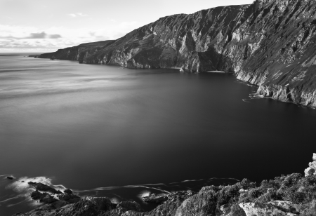 Slieve League Mono Stock Photo - 18993919