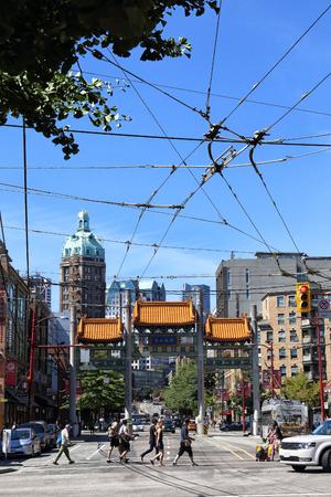 Downtown Vancouver, British Columbia, Canada. Standard-Bild - 105960820
