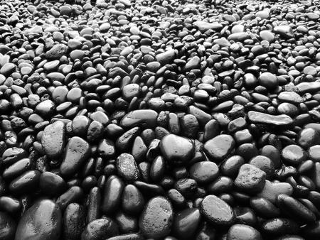 black: Black Rock Beach Stock Photo
