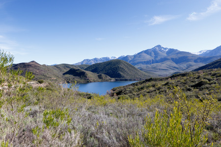 Body of Water near De Rust South Africa - De Rust is a small village at the gateway to the Klein Karoo, South Africa.