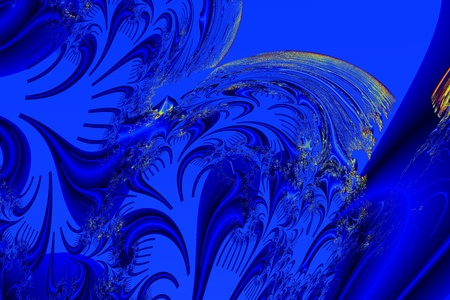 resemblance: abstract image of blue curved lines creates mystery