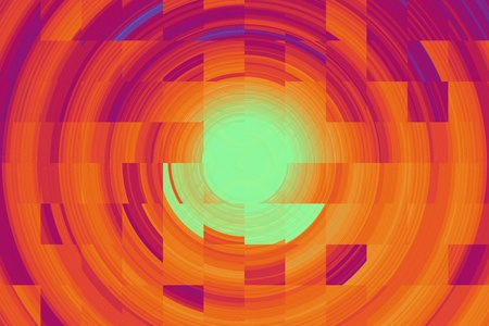 resemblance: Abstract image of red elements like a flaming sun