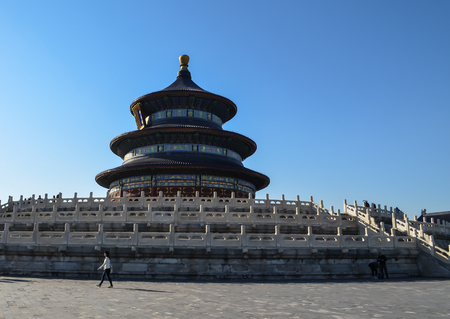 BEIJING, CHINA - OCTOBER 15, Temple of Heaven is one of the structures of the Buddhist