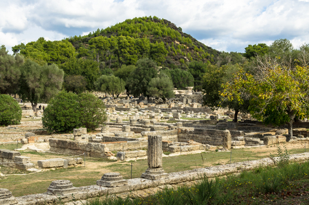 Ruins of the Olympia, Peloponnese, Greece.