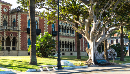 Reggio Calabria, Italy - October 30, 2017: Neo-gothic style villa of Paola Epifani (Rabarama) in Reggio Calabria, southern Italy
