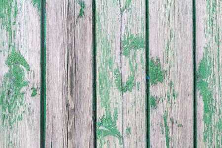 Green painted wood planks as background or texture. Close-up