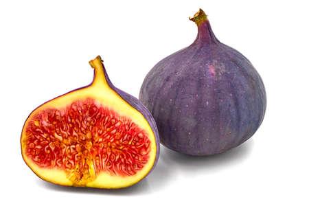 Fresh figs isolated on white background with shadow Zdjęcie Seryjne