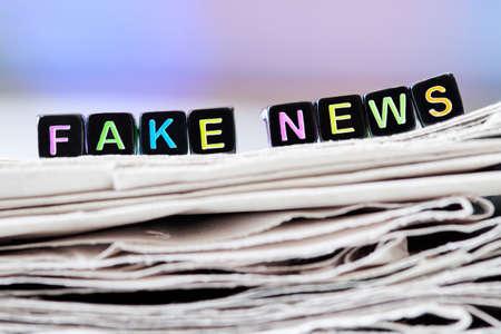 Fake news, fake post fact. Fake news concept. Closeup, selective focus Stock fotó