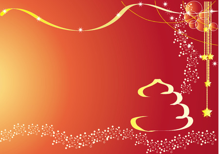 Red Christmas Card Stock Vector - 5903240