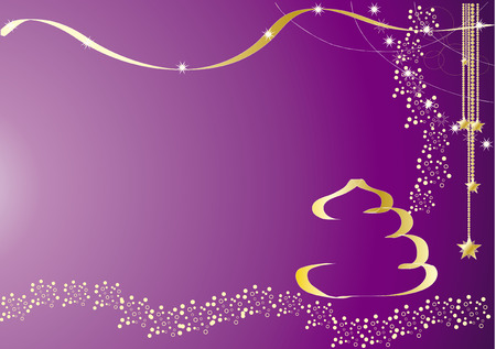 purple stars: Violet Christmas Card