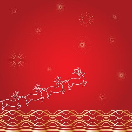 Santa`s deer red Vector