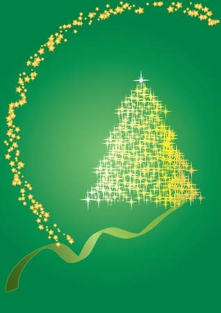 Fir tree  green, Merry Christmas and Happy New Year! vector illustration Vector