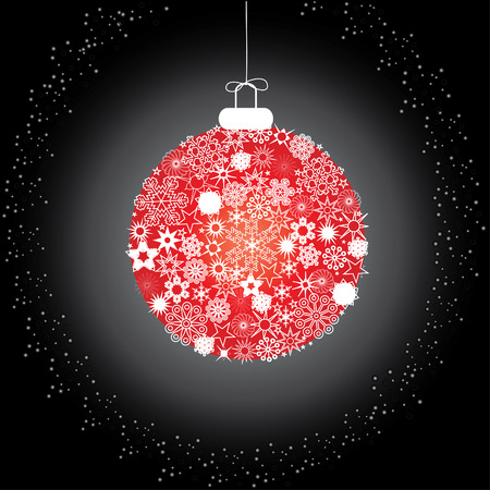 Christmas decoration snowflakes red black Stock Vector - 5919334