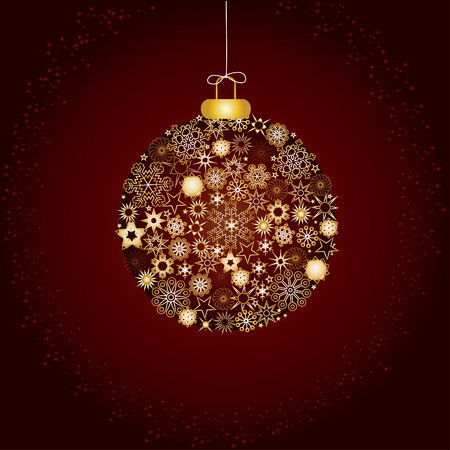 Christmas decoration snowflakes brown Stock Vector - 5919335