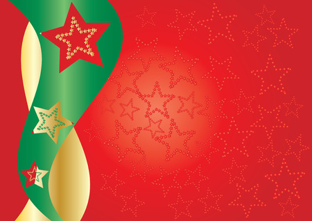 xm: Red starry background, Red stars on background for your greetings card, vector illustration Illustration