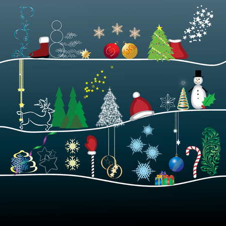 Greetings card allб This Christmas card will please your friends, vector illustration Vector