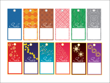set of price tags for advertising, vector illustration Vector