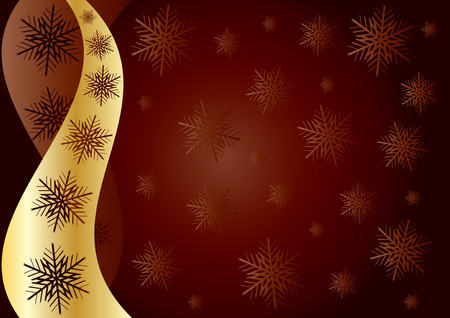 xm: Snowflakes Background brown, background with snowflakes for your greetings card, vector illustration, see more at my portfolio