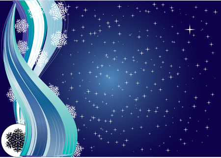 xm: Snowflakes Night, Background for your Greetings card, vector illustration Illustration