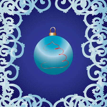 christmastree: Christmas bauble as greetings card, vector illustration