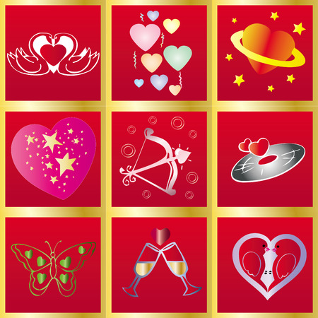 14th: Valentine Background, February 14th greetings card, vector illustration,  see more at my portfolio