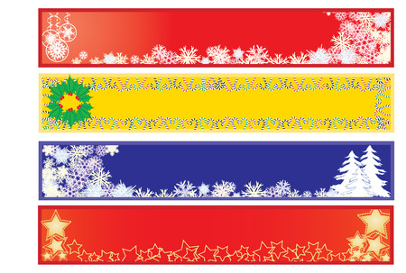 Christmas banners 2, Christmas banners for your site Stock Vector - 5998999