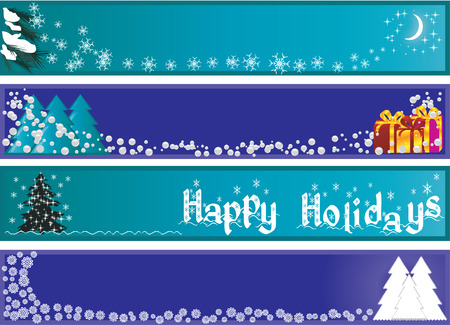 Christmas banners, Christmas banners for your site Stock Vector - 5998993