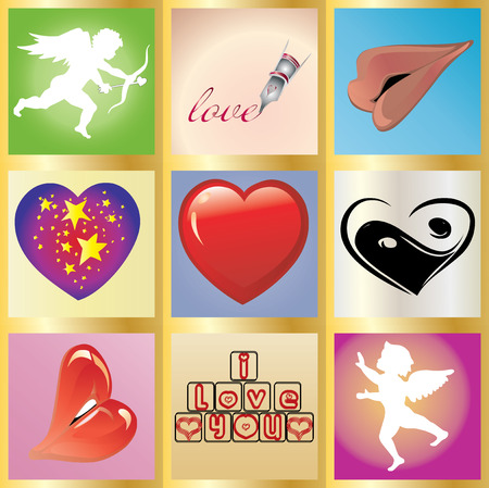 paramour: Valentine greetings card, You can use it as 1 and as 9 little cards
