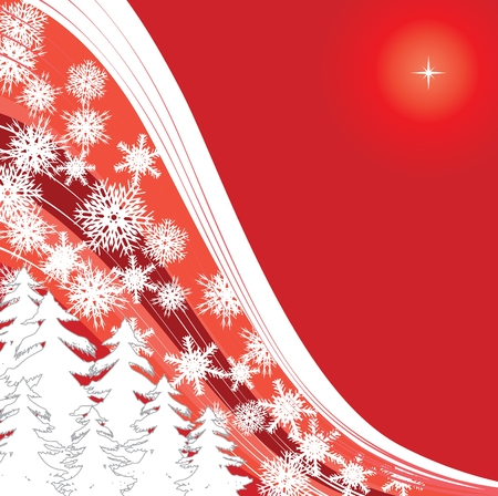 xm: red snow, Merry Christmas and Happy New Year! background for your greetings card