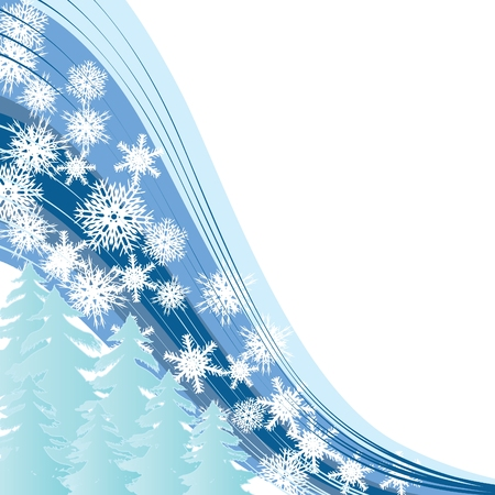 xm: White snow, Merry Christmas and Happy New Year! background for your greetings card