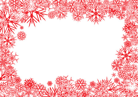 Red Snowflakes Backgroundbackground for your greetings card, vector illustration, see more at my portfolio, you can type your text Vector